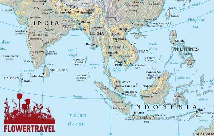 Tra Vietnam E Thailandia Cartina Geografica.Le News Di Flowertravel It Vietnam Viaggi In India E Sud Est Asiatico